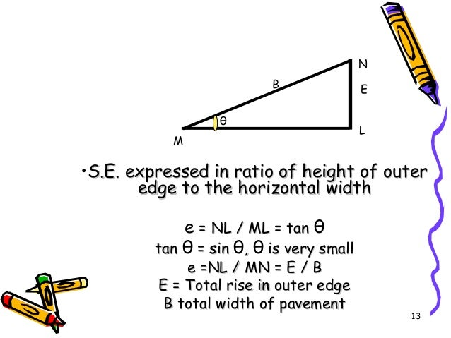 13 •S.E. expressed in ratio of height of outerS.E. expressed in ratio of height of outer edge to the horizontal widthedge ...