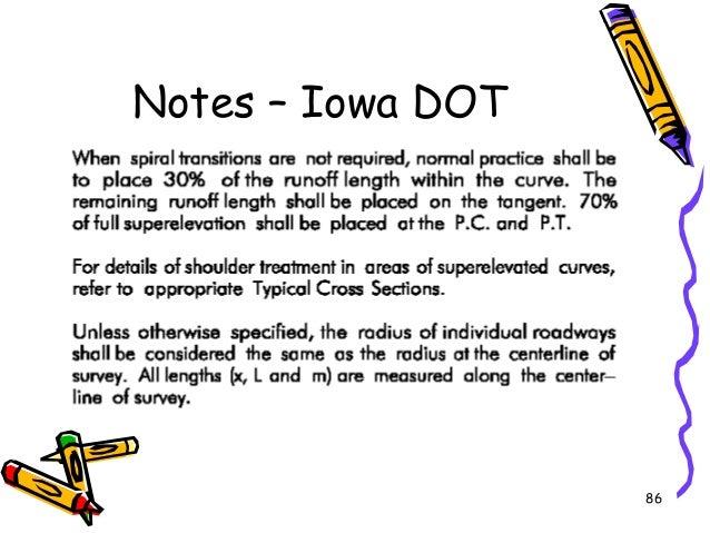 86 Notes – Iowa DOT