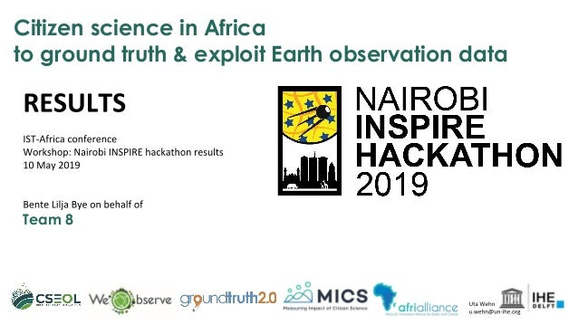 Citizen science in Africa to ground truth & exploit Earth observation data Team 8