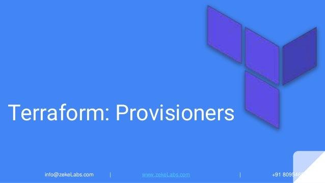 08 Terraform: Provisioners