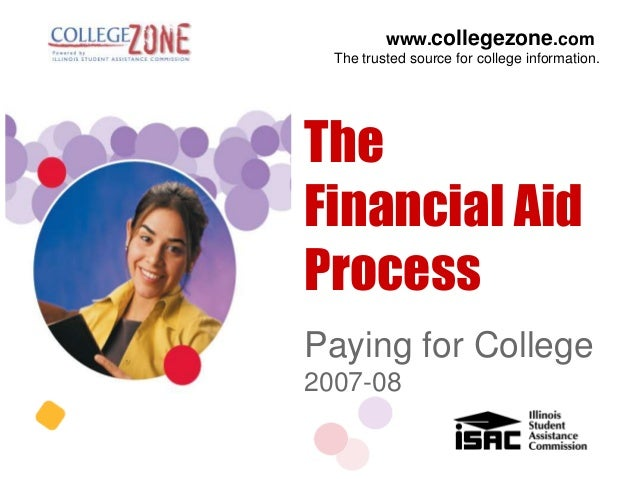 www.collegezone.com  The trusted source for college information.TheFinancial AidProcessPaying for College2007-08
