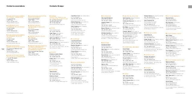 Contacts Orange  Association des maires de France – Mairie 2000  ■  41, quai d'Orsay 75007 Paris Tél.: 01 44 18 14 14 mai...