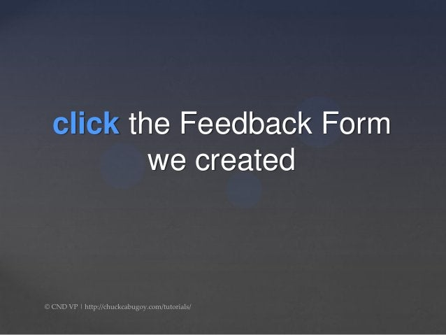 How to Tutorial: Google Form