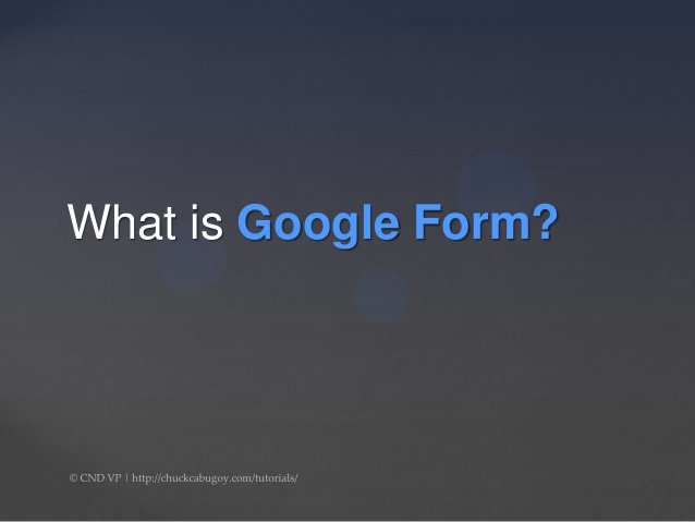 What is Google Form?