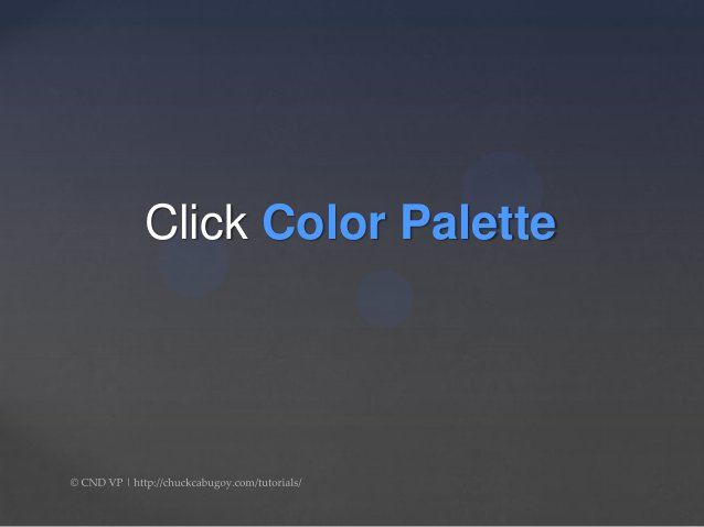 Click Select