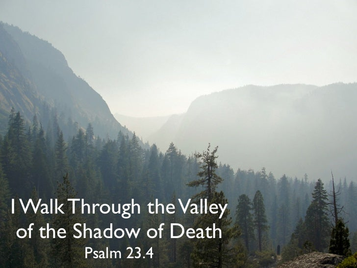I Walk Through the Valley of the Shadow of Death        Psalm 23.4