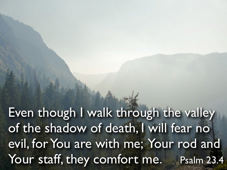 recipe: as i walk through the valley of the shadow of death verse [1]