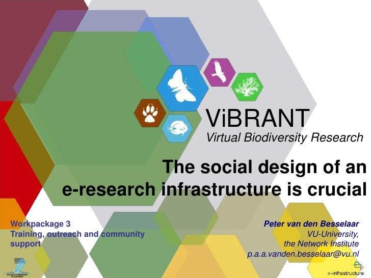 The social design of an <br />e-research infrastructure is crucial<br />Peter van den Besselaar<br />VU-University, <br />...