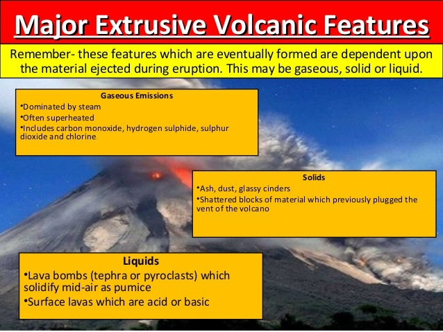 intrusive and minor extrusive features of Extrusive rock: extrusive rock, any many extrusive rocks also contain intrusive most widespread structural features of volcanic rocks are the porelike.