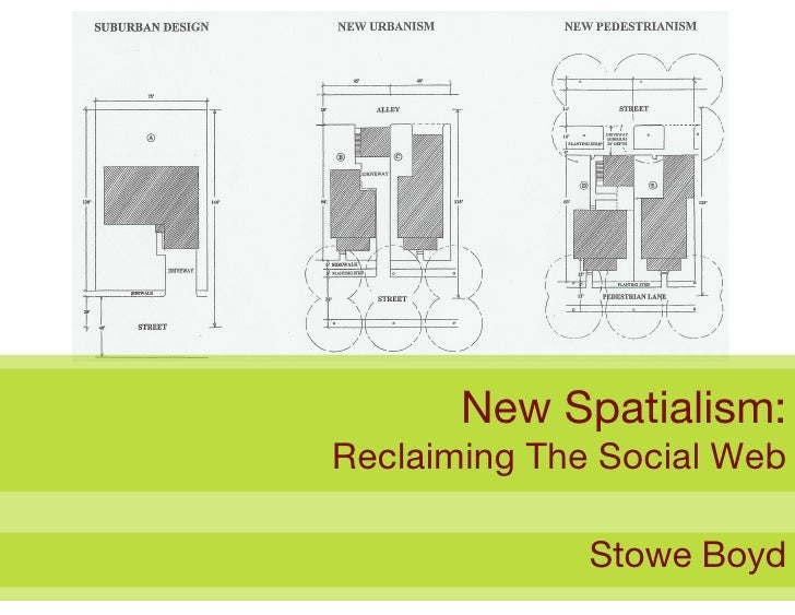 New Spatialism: Reclaiming The Social Web                Stowe Boyd