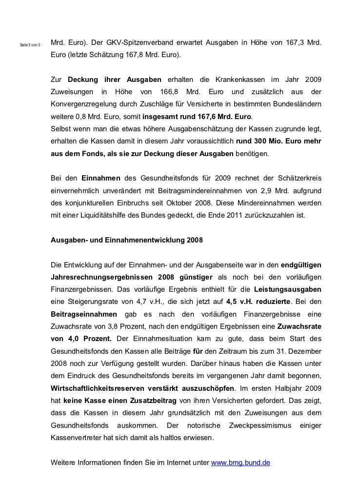 Seite 3 von 3   Mrd. Euro). Der GKV-Spitzenverband erwartet Ausgaben in Höhe von 167,3 Mrd.                Euro (letzte Sc...