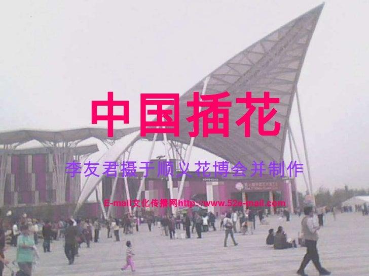 中国插花 李友君摄于顺义花博会并制作   E-mail文化传播网http://www.52e-mail.com