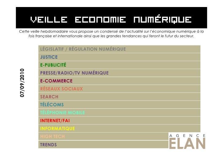 Cette veille hebdomadaire vous propose un condensé de l'actualité sur l'économique numérique à la      fois française et i...