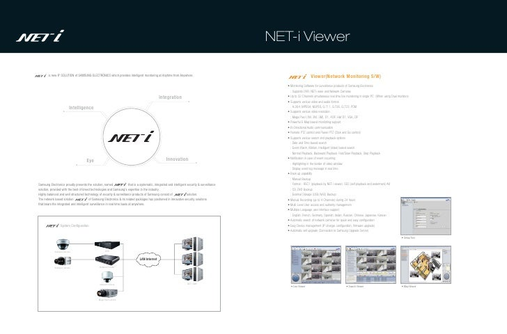 NET-i Viewer        is new IP SOLUTION of SAMSUNG ELECTRONICS which provides intelligent monitoring at Anytime from Anywhe...