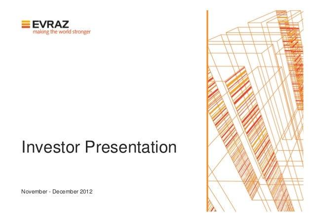 Investor PresentationNovember - December 2012