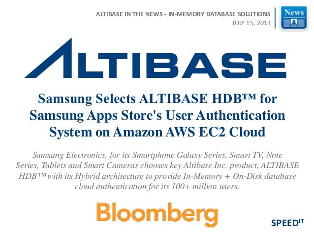 Samsung Electronics, for its Smartphone Galaxy Series, Smart TV, Note Series, Tablets and Smart Cameras chooses key Altiba...
