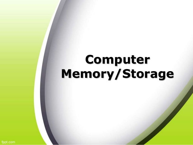 Computer Memory/Storage