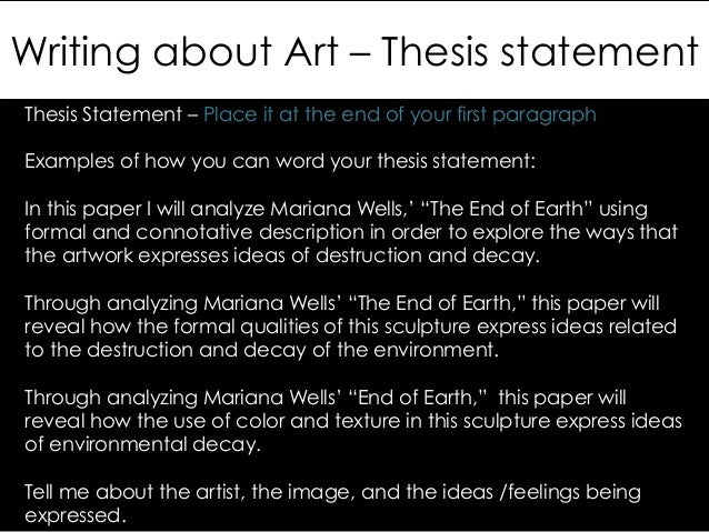 fine art thesis examples