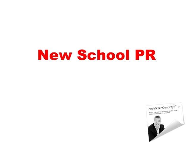 New School PR