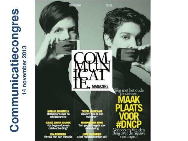 14 november 2013  Communicatiecongres