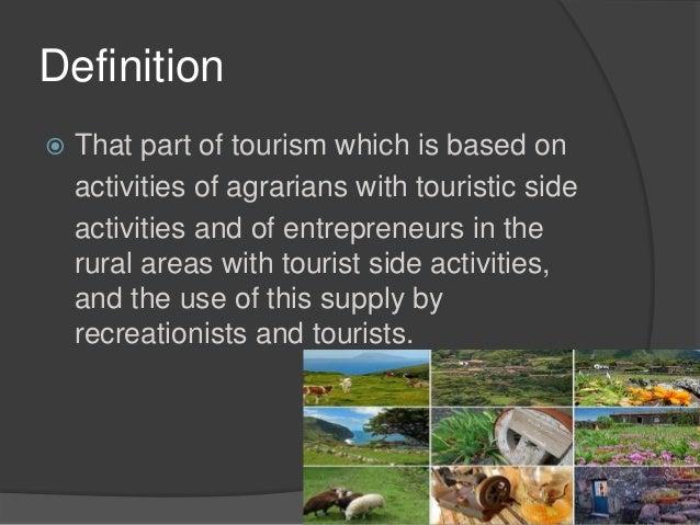 characteristics of rural tourism