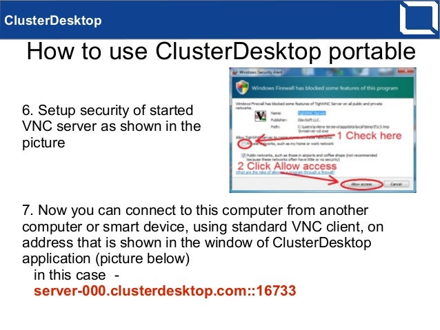 ClusterDesktop how-to use Windows console portable version