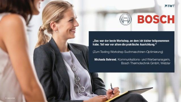 """© www.twt.de  """"Das war der beste Workshop, an dem ich bisher teilgenommen  habe. Toll war vor allem die praktische Ausrich..."""