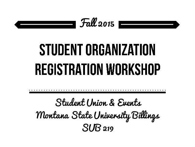 Fall 2015 Registration Workshop