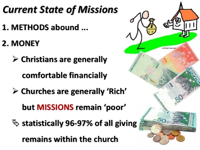 """Current State of Missions John Piper : """"All the money needed to send & support an army of self-sacrificing, joy-spreading ..."""