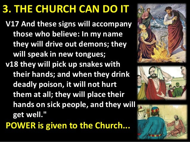 3. THE CHURCH CAN DO IT Jesus charge to his disciples ... Luke 9:2 he sent them out to PREACH THE KINGDOM OF GOD and TO HE...