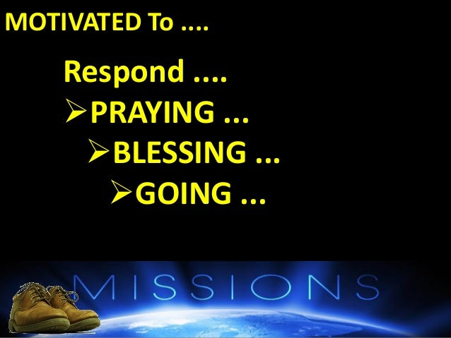 BOTTOM-LINE : GOD Commands It  The PEOPLE Needs It  The CHURCH Can Do It What Can I Do? What Next ? Highlight 3 very sp...