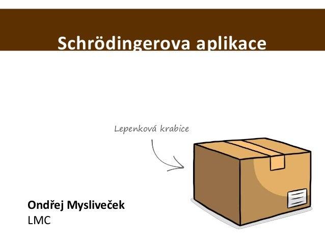 Schrödingerova aplikace Ondřej Mysliveček LMC Lepenková krabice