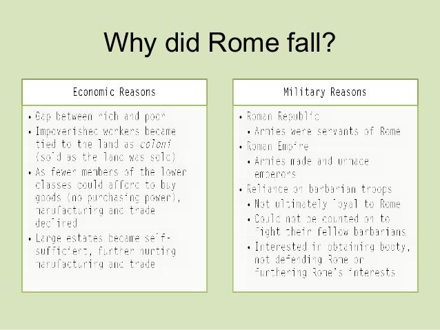 The fall of the roman empire essay