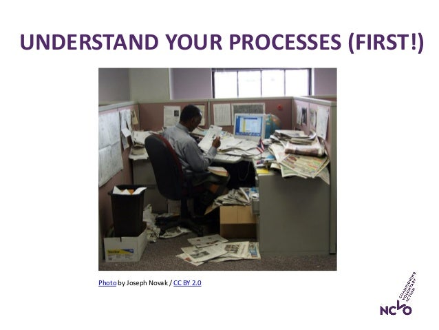 UNDERSTAND YOUR PROCESSES (FIRST!) Photo by Joseph Novak / CC BY 2.0