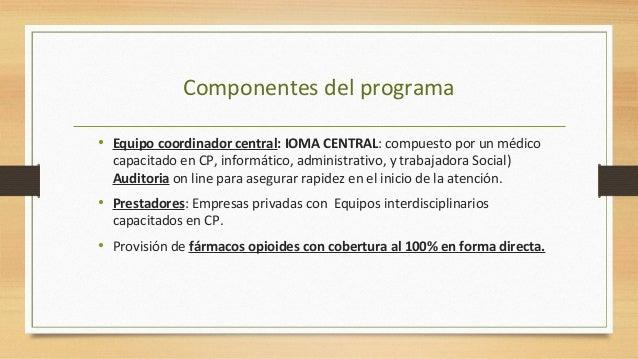 Prestadores: Equipos profesionales interdisciplinarios Equipo básico Médico capacitado en CP Enfermero profesional Equipo ...