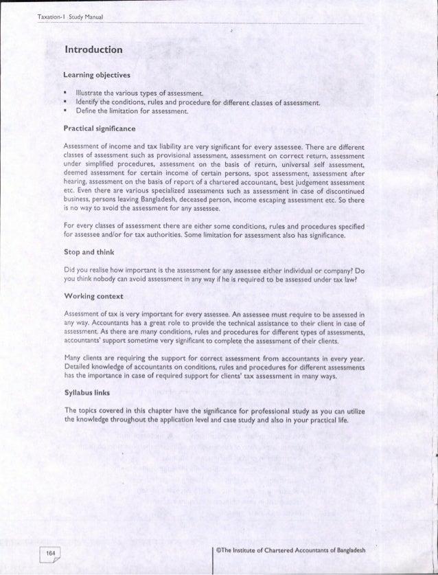 09. assessment ICAB, KL, Study Manual