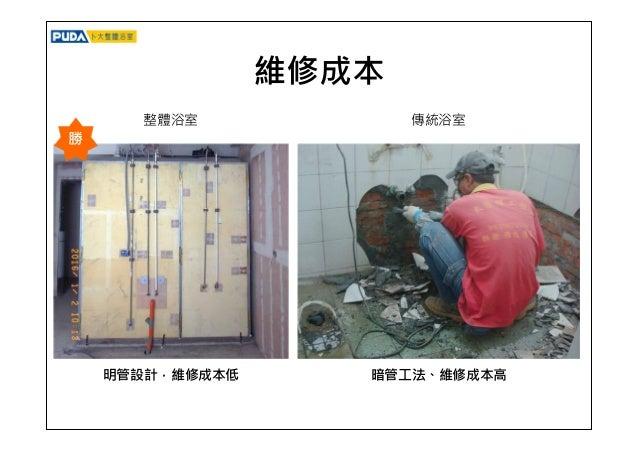 防水 整體衛浴系統100%防水 天花板、牆面易滲水、壁癌 勝 整體浴室 傳統浴室