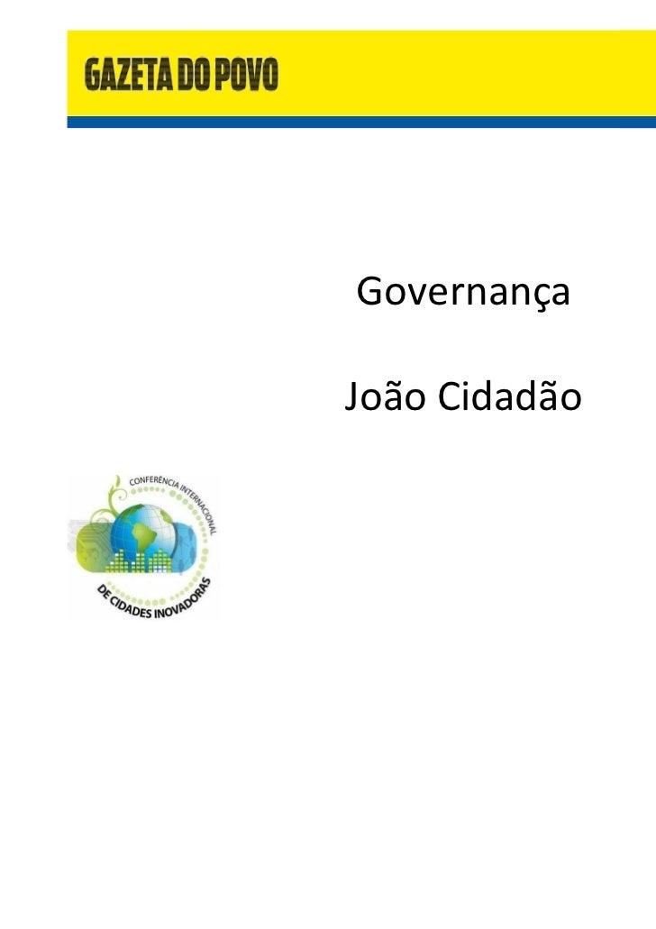 GovernançaJoão Cidadão