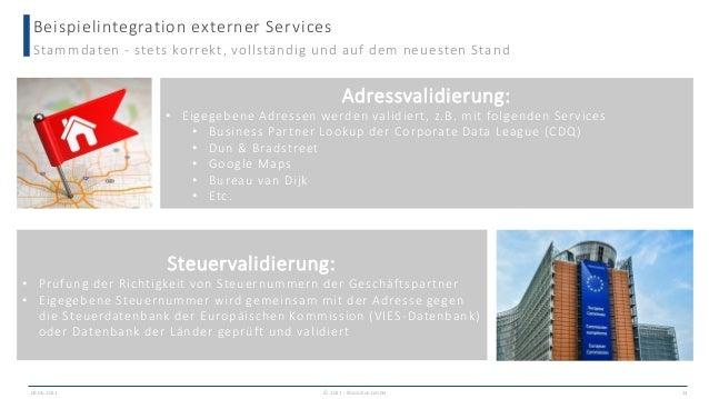Beispielintegration externer Services 09.06.2021 24 Stammdaten - stets korrekt, vollständig und auf dem neuesten Stand Ste...