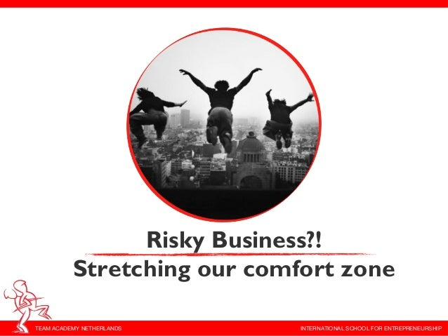 Risky Business?!          Stretching our comfort zoneTEAM ACADEMY NETHERLANDS     INTERNATIONAL SCHOOL FOR ENTREPRENEURSHIP