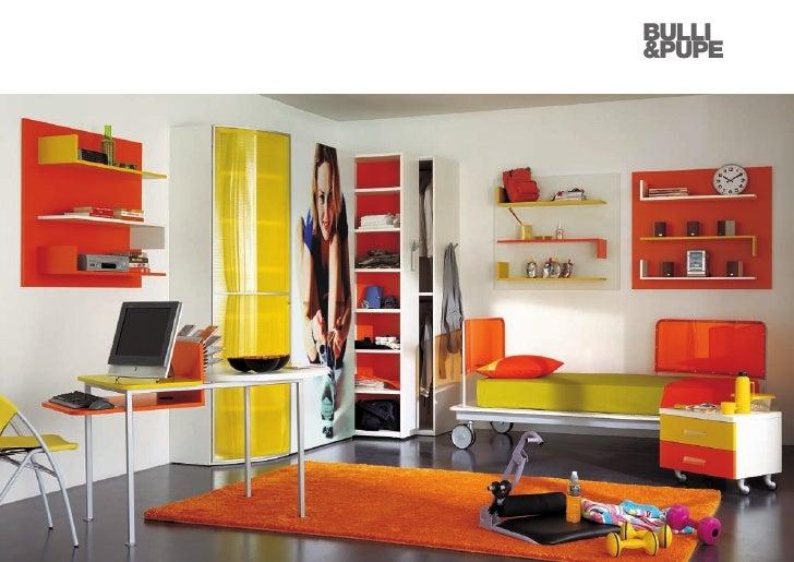 Cameretta Arancione E Blu : Camerette