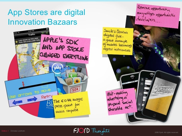 Edition 1   Christian Lindholm App Stores are digital Innovation Bazaars