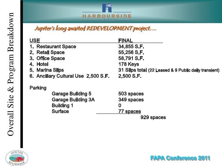 Overall Site & Program Breakdown                                     Jupiter's long awaited REDEVELOPMENT project….       ...
