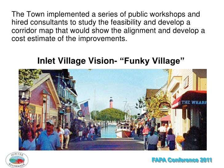 The Town implemented a series of public workshops andhired consultants to study the feasibility and develop acorridor map ...