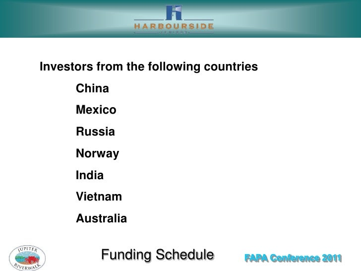 Investors from the following countries      China      Mexico      Russia      Norway      India      Vietnam      Austral...