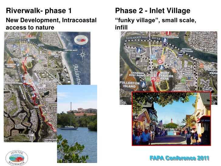 """Riverwalk- phase 1              Phase 2 - Inlet VillageNew Development, Intracoastal   """"funky village"""", small scale,access..."""