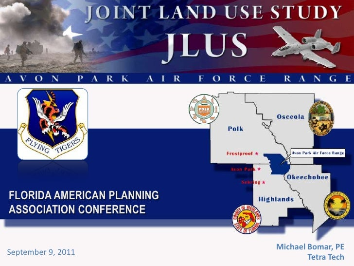 FLORIDA AMERICAN PLANNING ASSOCIATION CONFERENCE<br />Michael Bomar, PE<br />Tetra Tech<br />September 9, 2011<br />
