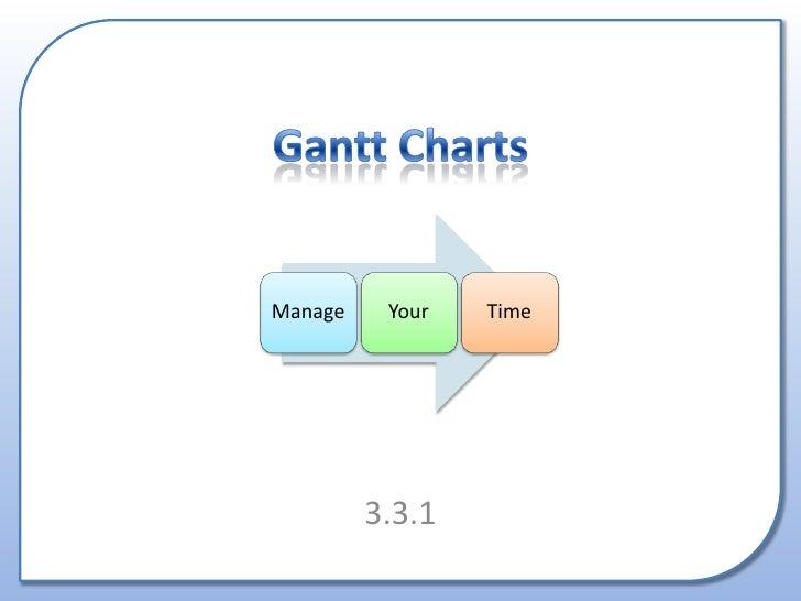 Gantt Charts<br />3.3.1<br />
