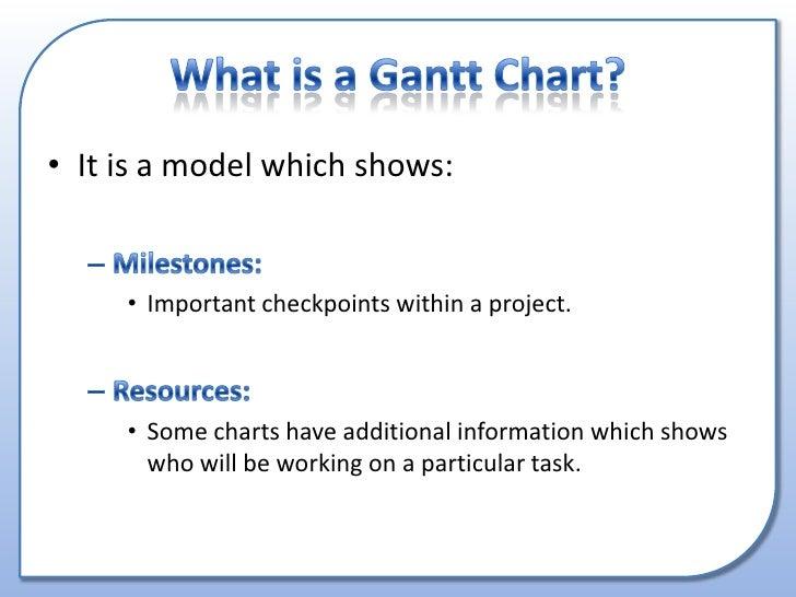 what is gantt chart