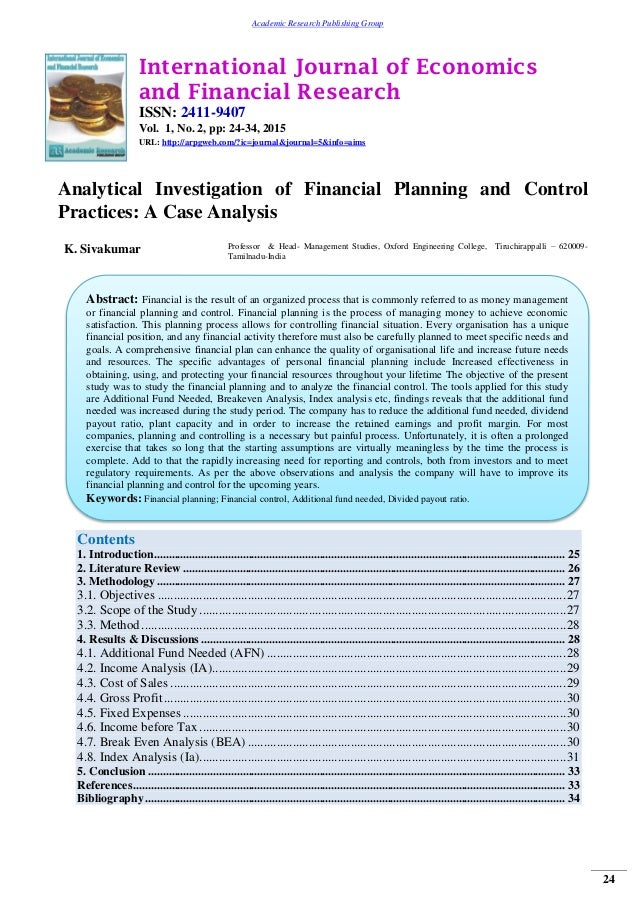 financial planning and analysis case study Financial planning case study-94347 part 1: • i/we acknowledge that the information i provided in the financial needs analysis has been used to arrive at the.